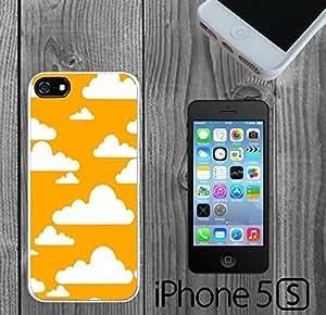 Cute Clouds on Orange sky Custom made Case/Cover/skin FOR iPhone 5/5s
