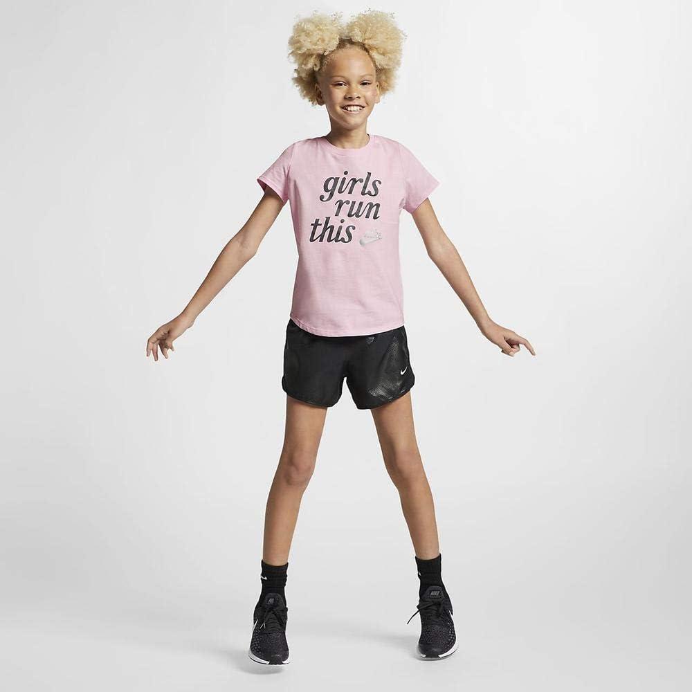 Camiseta de Manga Corta Ni/ñas Nike G NSW tee Scoop Girls Run This