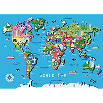 Amazon Com Map Of The World Toys Games