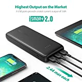 Portable Charger RAVPower 22000mAh Portable Phone Charger 22000 Power Banks 5.8A Output 3-Port (2.4A Input, iSmart 2.0 USB Ports, Li-polymer Battery Banks) For Smartphone Tablet – Black