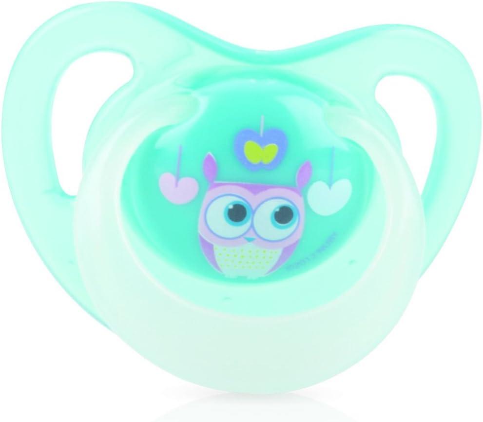 Nuby ID5788SOSM - Chupete brilla en la oscuridad, tetina ortodóntica y filamentos de silicona, 0-6 meses: Amazon.es: Bebé