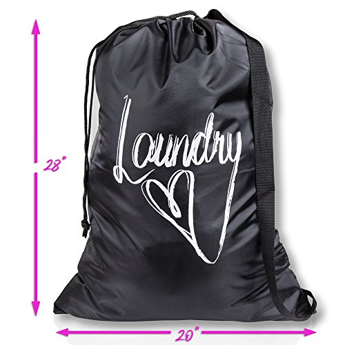 Wajt Najt Best Laundry Bag College Student Gifts Size 20x28 for College Dorm Room and Households Design By Anna Ileby by Wajt Najt (Image #2)