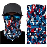 FDelinK Face Shields, Bandana Dust Mask, Sun Shade Shield, Protects Face Against the Elements (B)
