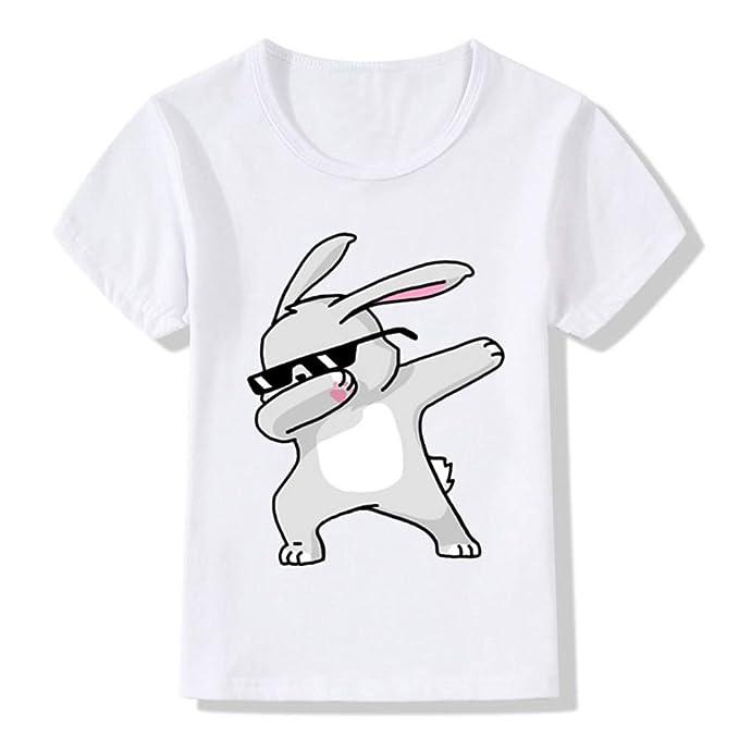 La Moda de la Mujer Camiseta Casual, Cuello Redondo de la Mujer Camiseta Suelta patrón de Dibujos Animados Gato Cebra Panda Conejo Divertido Hip-Hop: ...