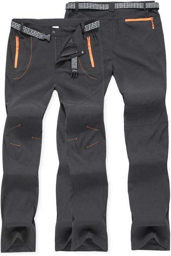 CARETOO Pantalones Trekking Hombre Pantalones de Escalada Senderismo Alpinismo Invierno Polar Forrado Aire Libre
