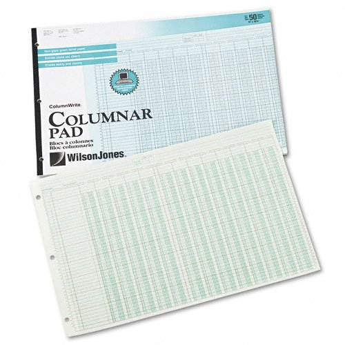 Wilson Jones : Accounting Pad/13 8-Unit Columns, 11 x 16 3/8, 50-Sheet Pad -:- Sold as 2 Packs of - 1 - / - Total of 2 Each