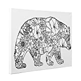 Bear Art Therapy Coloring Canvas Home Decor