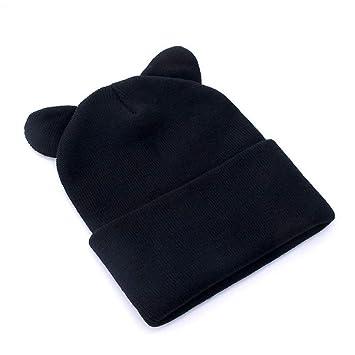 ZXGJMZ Algodón Mujer Sombreros de Invierno Sombrero de Punto ...