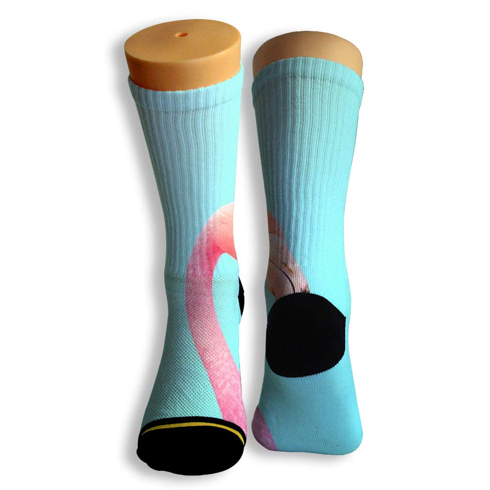 Basketball Soccer Baseball Socks by Potooy Hot Flamingos Patterned 3D Print Cushion Athletic Crew Socks for Men Women