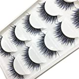 SMILEQ Women Luxury 3D False Lashes Fluffy Strip Eyelashes Long Natural Party (F)