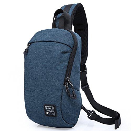 Chest Bag, Canvas Vintage Bodycross Small Laptop Messenger Work For Travel-c