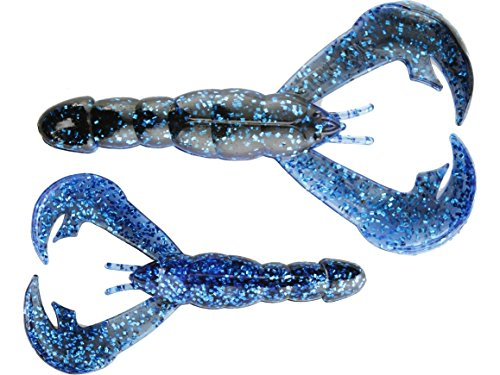 Strike King Rage Tail Craw 4 Inch Blue (Craw Tail)