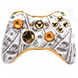 ''Gold Money'' Xbox 360 Rapid Fire Custom Modded Controller 40 Mods for All Major Shooter Games, Quick Scope, Sniper Breath, Burst Fire, Auto Aim, Jump Shot and More