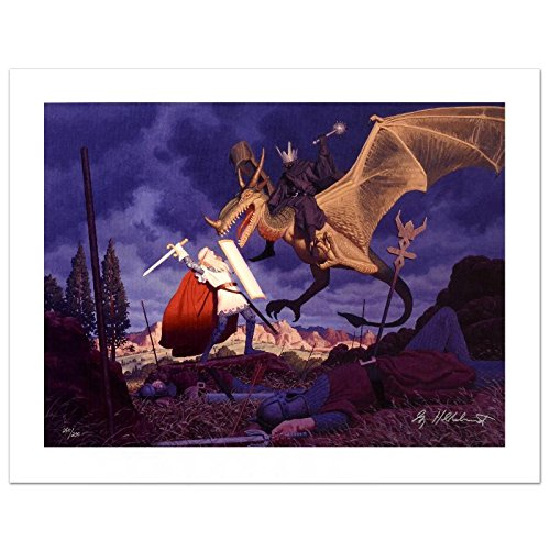 """""""Eowyn And The Nazgul"""" Limited Edition Giclee on Canvas by The Brothers Hildebrandt! Numbered and Hand Signed by Greg Hildebrandt! Includes Certificate of Authenticity!"""