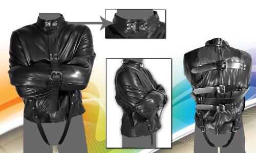 Amazon.com: Leather Men Bondage Wear Straitjacket in XLarge Size ...