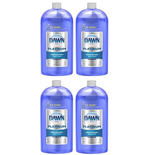 Dawn Platinum Dishwashing Foam Refill, Fresh Rapids, 30.9 Ounce (pack of 4)