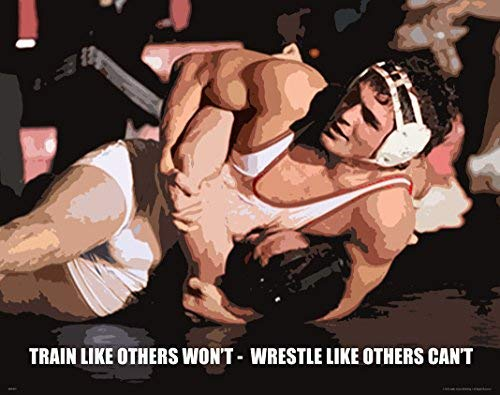 (Wrestling Motivational Poster Art Print 11x14 Kids Shoes Head Gear Singlet)