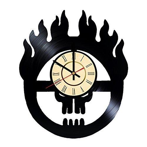 Fun Door Mad Max Logo Vinyl Record Wall Clock - Get Unique Room Wall Decor - Gift Ideas for Friends, Men and Women – Mad Max Movies Unique Art Design ()