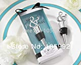 XuBa Mr & Mrs red Wine Stopper Wedding Favors and Gifts Party Supplies 100pcs Show