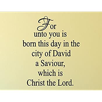 Christmas decoration wall decals for unto you is born this day in the city of vinyl wall for Decor star 005 ss