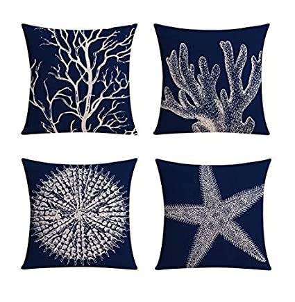 Amazon 【Bailand】Set Of 40 Nautical Sea Side Theme Cushion Custom Nautica Pillow Covers