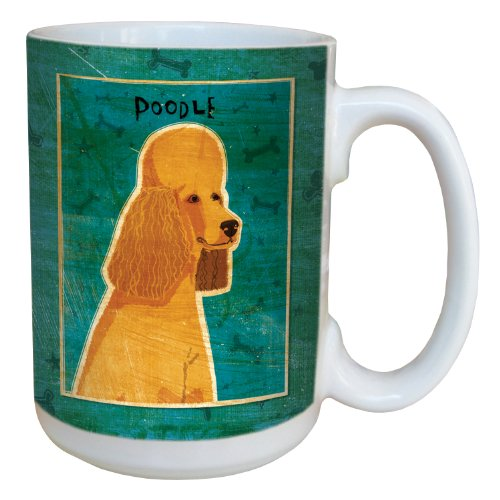 Tree-Free Greetings sg44061 Apricot Poodle by John W. Golden Ceramic Mug with Full-Sized Handle, 15-Ounce