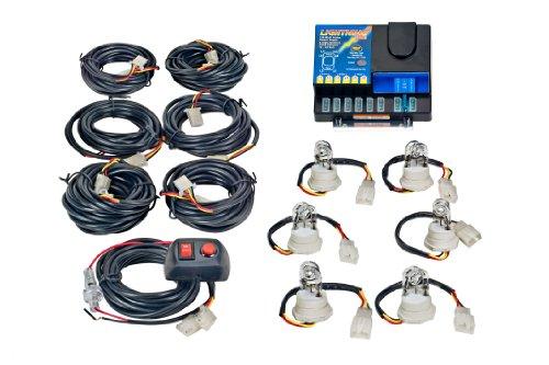 Wolo (8106XL-7-6B) Lightning Plus XL 120 Watt Power Supply Six Bulb Emergency Warning Strobe Kit - 6 Blue Bulbs