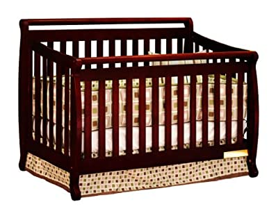 Athena Amy 3 In 1 Crib With Toddler Rail Cherry by Athena