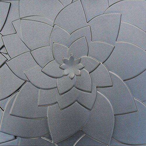 Molds For for Gypsum or Concrete Tile Panels LOTUS Mold Plaster Wall Art Decor ABS Plastic Form 3D