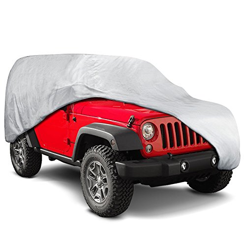"""Motor Trend VC540 All All Season WeatherWear 1-Poly Layer Snow Proof, Water Resistant Van/SUV Cover Size L-Fits up to 185"""""""