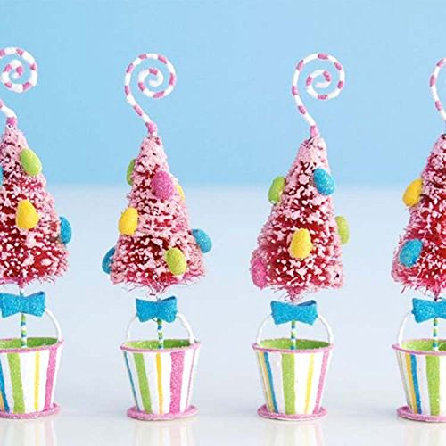 Glitterville Easter Tree Placecard Holders - Set of 4 (Place Holder Card Tree)