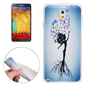 Lovely Girl Pattern Ultra-Thin Transparent TPU Protective Case Cover Carcasa Para Samsung Galaxy Note 3/N900