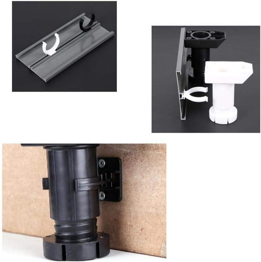 se adapta a patas de 30 mm de di/ámetro 10 clips de pl/ástico para patas de cocina y soportes para patas