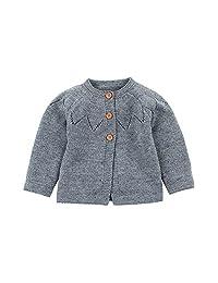 Pollyhb New Baby Soft Warm Cardigan Coat, Toddler Baby Boys Girls Sweaters Winter