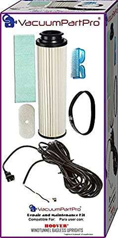 Hoover WindTunnel Bagless Upright Cord Repair and Maintenance Kit By Vacuum Part Pro - Bagless Upright Round Hepa Filter