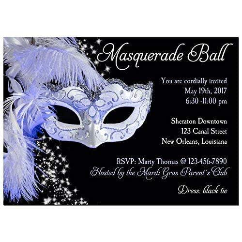Amazon.com: Masquerade Invitation - ANY Wording - Carnival ...