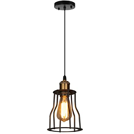 yoxang lustre LED luz estilo Industrial Vintage lámparas de ...