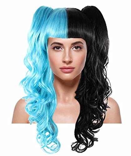 Black Dolly Wig (Dolly Blue and Black Cosplay Party Costume Wig HW-1421)