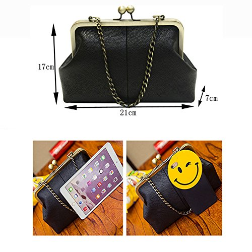 Chains Handbag Retro Totes Bag Pt15 Purse Ladies Minimalist Pu Lock Satchel Crossbag Kiss Diamonds Appliques Shoulder Bag Leather Abuyall dBqOSXSx