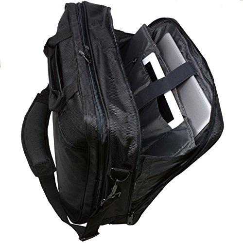 Alpine Swiss Cortland Laptop Bag Organizer Briefcase Black