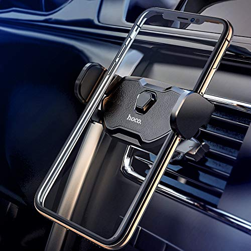 Hoco. Car Air Vent Mount Holder Universal Semi-Automatic Easy One Tap Design for iPhone Xs Xs Max XR X 8 8 Plus 7 7 Plus SE Samsung Galaxy S9 S9 Plus S8 S8 Plus S7 etc. ()