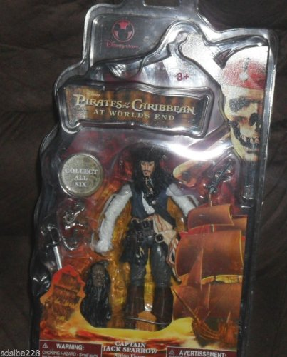 Disney Pirates of The Caribbean at World's End Captain Jack Sparrow Figure