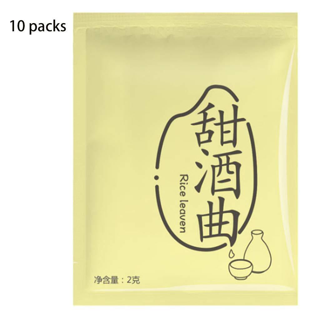 Tsorryen 10 Bag Sweet Glutinous Rice Wine Leaven Fermentation Starter Koji Yeast Powder