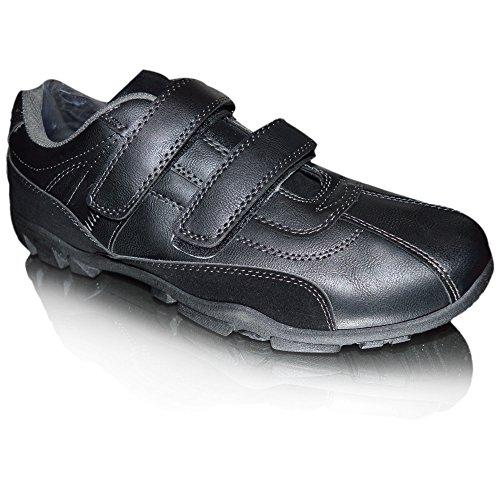 Xelay - Deck shoes hombre Black Double Velcro