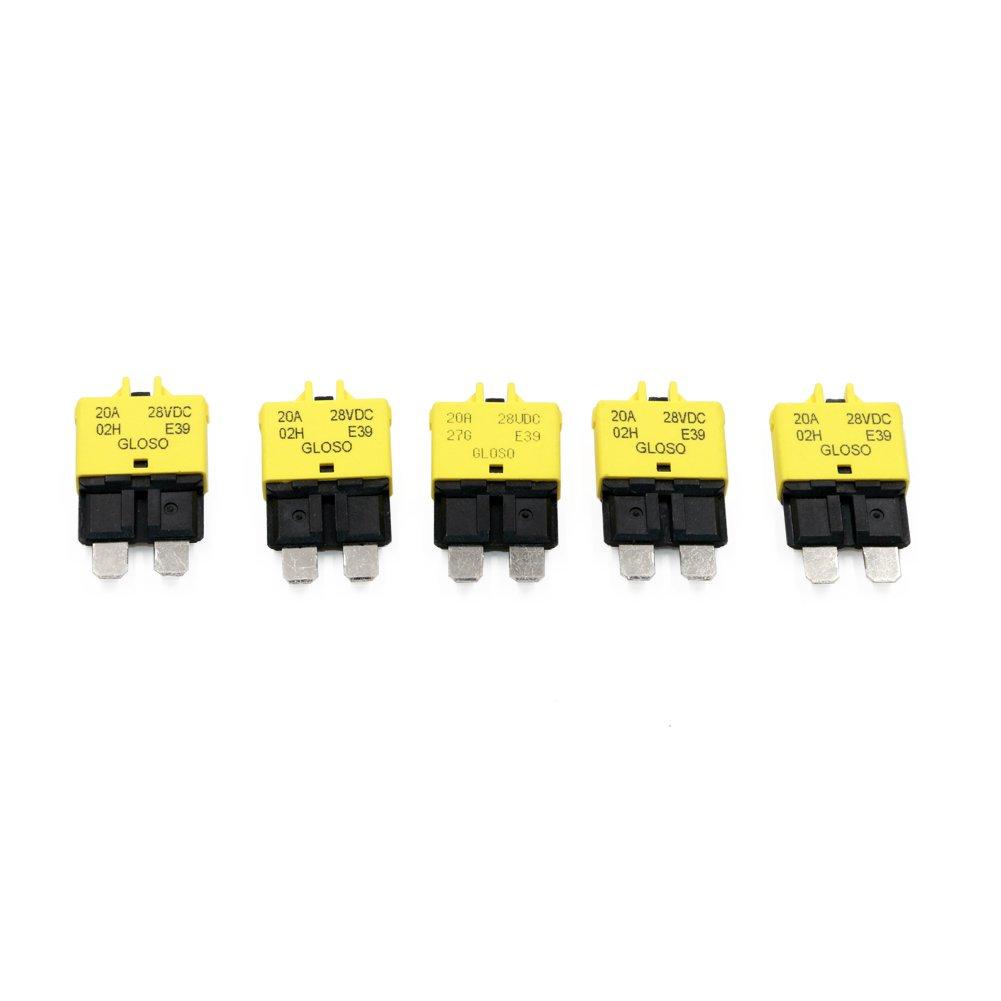 Lot de 5 fusibles basse tension T Tocas 12 V 28 VDC r/éinitialisation manuelle.