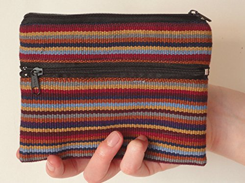 Ethically Sourced Coin Purse / Pouch, Handwoven, Set of 2