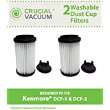 2 Filters for Kenmore Vacuums; Comes with Removable Endcap to convert to either DCF-1 or DCF-2; Compare to Kenmore Part No. 82720, 82912; Designed & Engineered by Think Crucial