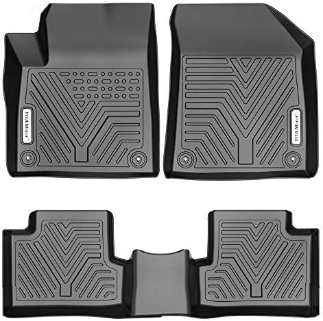 YITAMOTOR Floor Mats Compatible with 2015-2021 Jeep Cherokee (Not for Grand Cherokee), Custom Fit Floor Liners, 1st & 2nd Row All-Weather Protection, Black