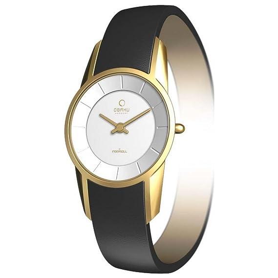 f36f876a34385 Obaku Harmony - V130L GIRB - Montre Femme - Quartz - Analogique - Bracelet  Cuir Noir: Amazon.ca: Watches