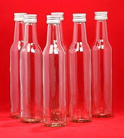 24 botellas de vidrio vacías BORDO 0,05 l botellas de zumo de botellas de licor de 50 ml botellas de licor slkfactory: Amazon.es: Hogar